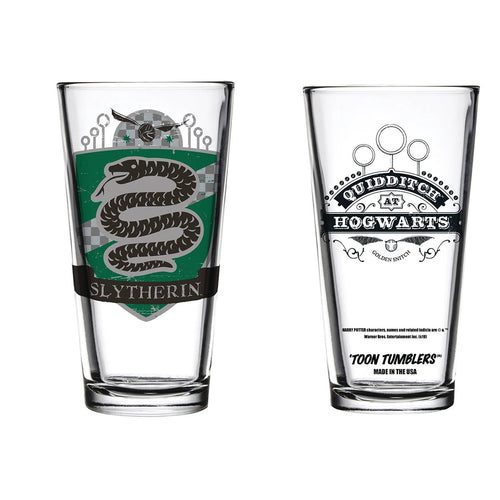 Slytherin Quidditch Pint Glass