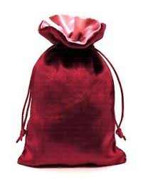BURGUNDY VELVET TAROT DECK BAG