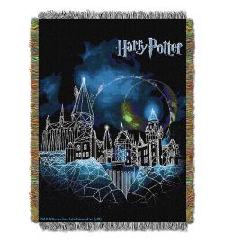 "Harry Potter, ""Castle"" Woven Tapestry Throw Blanket"