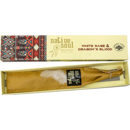 Green Tree Native Soul White Sage and Dragon's Blood Incense Sticks