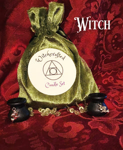 CHIME SPELL RITUAL CAULDRON CANDLE HOLDER SET