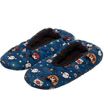 Load image into Gallery viewer, Harry Potter Harry Potter Slippers Allover Chibi Character Design No-Slip Slipper Socks