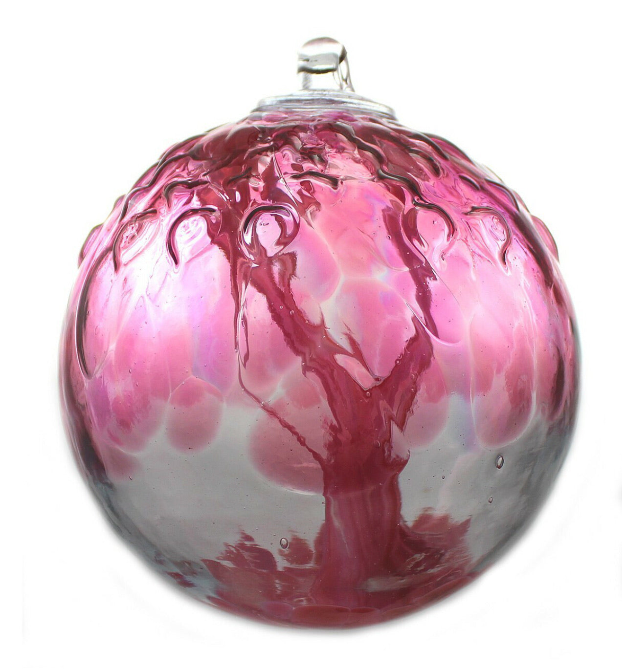 RS: EMBOSSED LEAF ROSEATE SPIRIT TREE WITCH BALL: