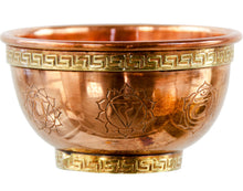 Load image into Gallery viewer, SEVEN CHAKRAS COPPER BOWL INCENSE AND CHARCOAL BURNER