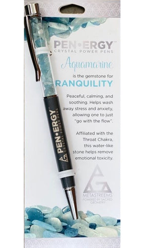 PEN-ERGY AQUAMARINE CRYSTAL PEN
