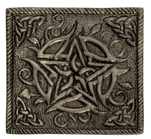 ALUMINUM SQUARE PENTACLE INCENSE HOLDER