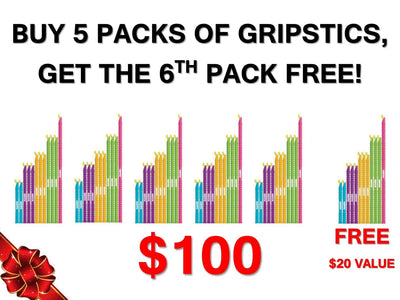 GRIPSTIC®5 GET 1 FREE – SELECT 6 PACKS of GRIPSTICS