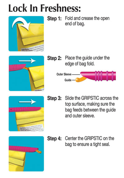 "GRIPSTIC® Bag Sealer 12-Pack 8.75"" Set"
