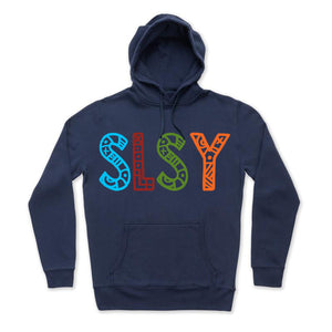 MULTI COLORED TRIBAL SLSY HOODIE