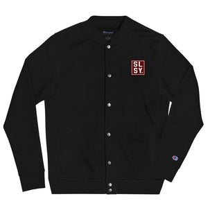 Embroidered SLSY Champion Bomber Jacket