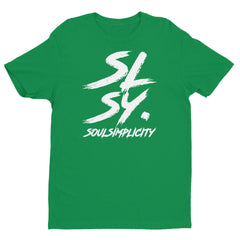 SLSY. MENS BRUSH CREW TEE