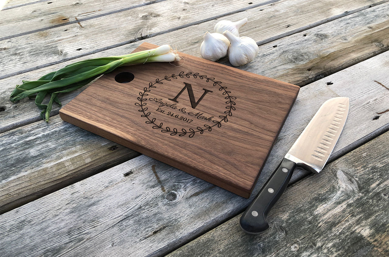 Personalized Cutting Board Wedding Engagement Anniversary Gift Des Ocean View Woodworking
