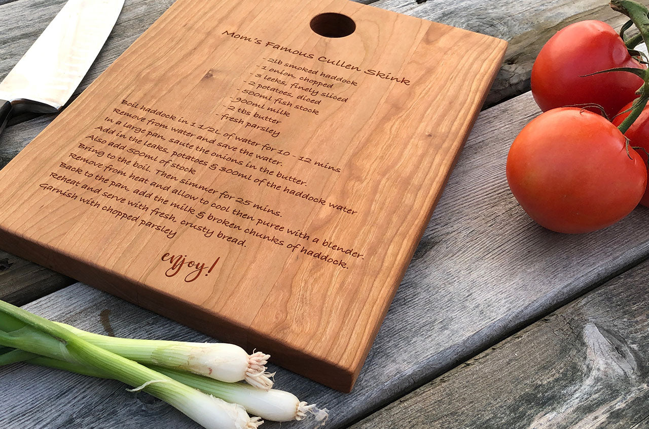 Personalized Cutting Board Wedding Gift Engagement Gift Housewarmin Ocean View Woodworking