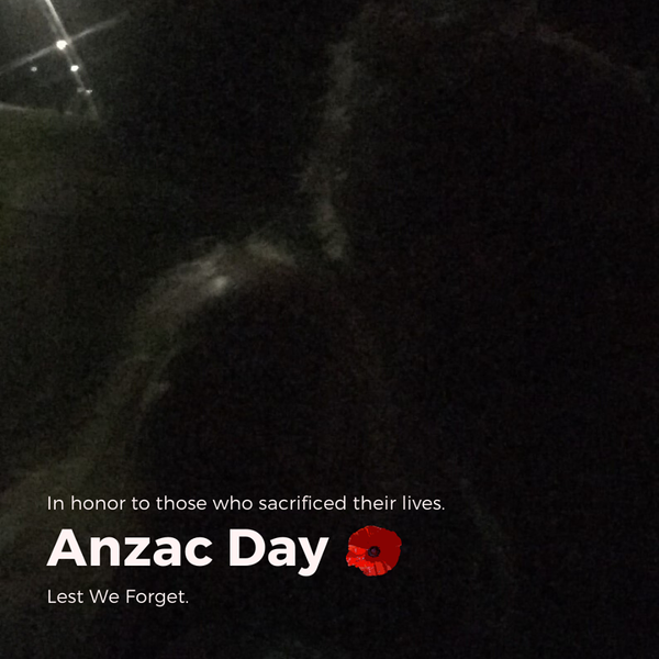 Its 6am on ANZAC Day 2020