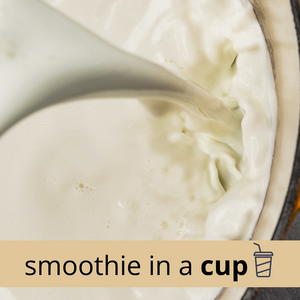 CREAM + CINNAMON Keto Low Carb Smoothie in a Cup