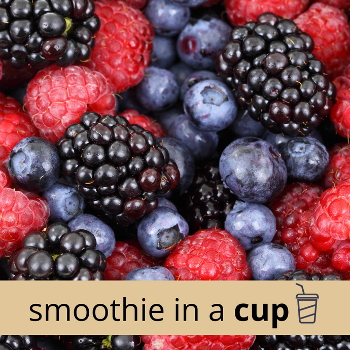 MIXED BERRY + BANANA High Carb Smoothie in a Cup