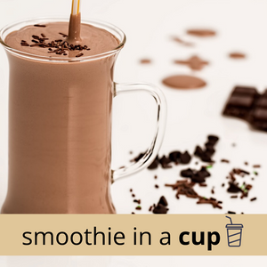PEANUT BUTTER + CHOCOLATE Classic Smoothie in a Cup