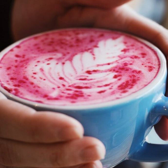 Red Velvet Herbal Latte