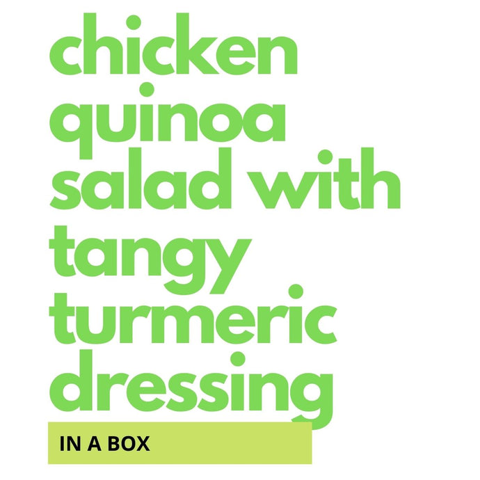 Chicken Quinoa Salad with Tangy Turmeric Dressing