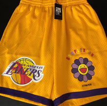 Load image into Gallery viewer, Lakers x Mitchell & Ness x Takashi Murakami Shorts