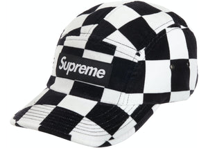 Supreme Checkered Velvet Camp Cap