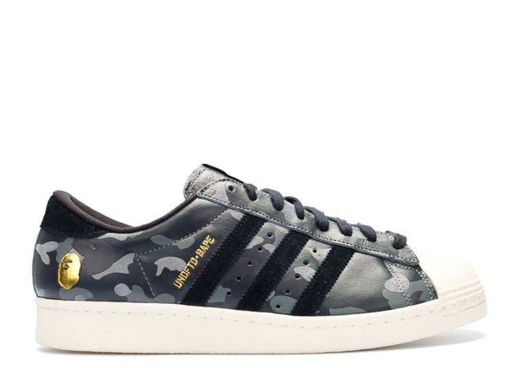 Adidas Superstar x A Bathing Ape x UNDFTD (Black camo)