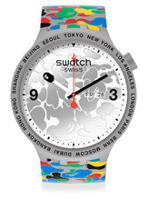 Load image into Gallery viewer, SWATCH X BAPE TOKYO GRAY MULTI CAMO