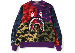 Bape Mixed Camo Crewneck