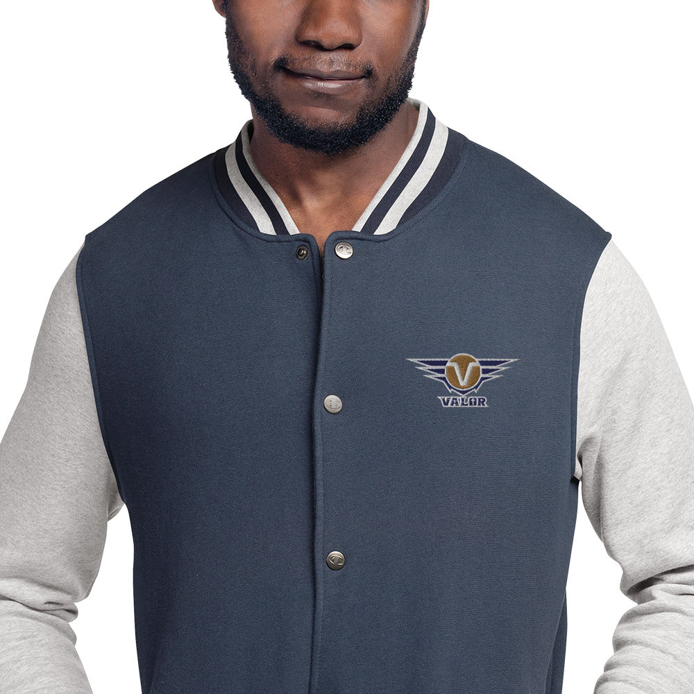 Men's Embroidered Champion Bomber Jacket