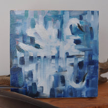 "Load image into Gallery viewer, Lost in Reflection, 6""x6"" Oil Painting on Birch Wood Panel, Wood Finish Siding"