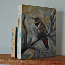 "Load image into Gallery viewer, Northern Flicker - 8""x10"" Oil Painting on Birch Wood Panel, Wood Finish Siding"