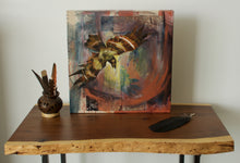 "Load image into Gallery viewer, Ancestors, 12""x12"" Mixed Media on Gallery Wrap Canvas"