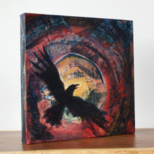 "Load image into Gallery viewer, Midnight Sun, 12""x12"" Mixed Media on Gallery Wrap Canvas"