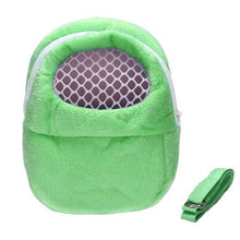 Load image into Gallery viewer, Small Pet Carrier Rabbit Cage Hamster Chinchilla Travel Warm Bags Cages Guinea Pig Carry Pouch Bag Breathable - petsprive.com