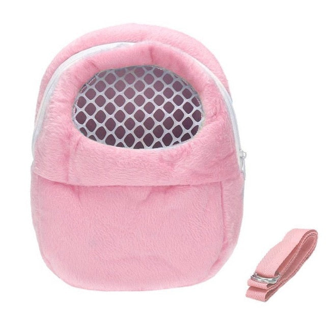 Small Pet Carrier Rabbit Cage Hamster Chinchilla Travel Warm Bags Cages Guinea Pig Carry Pouch Bag Breathable - petsprive.com