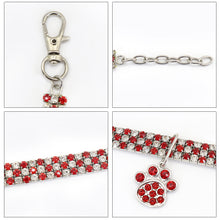 Load image into Gallery viewer, Bling Rhinestone Cat Dog Collar Puppy Necklace Small Dogs Cats Collars Pet Accessories With Paw Pendant For Kitten Chihuahua - petsprive.com