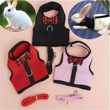 Load image into Gallery viewer, Rabbits Hamster Vest Harness With Leas Bunny  Mesh Chest Strap Harnesses Ferret Guinea Pig Small Animals - petsprive.com