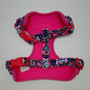 Dog Harness Small Folk Style Soft Canvas Pet Harness and Leash Set Breathable Adjustable Puppy Harness Vest Walking Leads Yorkie - petsprive.com