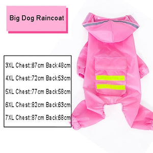 Dog Raincoat Jumpsuit Rain Coat for Dogs Pet Cloak Labrador Waterproof - petsprive.com