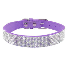Load image into Gallery viewer, Bling Rhinestone Dog Cat Collars Leather Pet Puppy Kitten Collar Walk Leash Lead For Small Medium Dogs Cats Chihuahua Pug Yorkie - petsprive.com