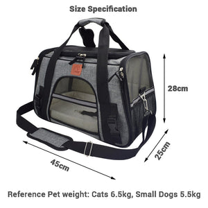 Carrier for Dogs Travel Cat Carrier Bag Breathable Car Seat Dog Carriers for Small Puppy Safety Reflective Portable Pet Handbag - petsprive.com
