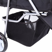 Load image into Gallery viewer, Pet Dog Puppy Cat Travel Stroller Pushchair Jogger Buggy Swivel 3 Wheels - petsprive.com
