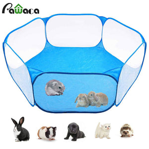 Pet Playpen Portable Pop Open Indoor / Outdoor Small Animal Cage Game Playground Fence for Hamster Chinchillas And Guinea- Pigs - petsprive.com