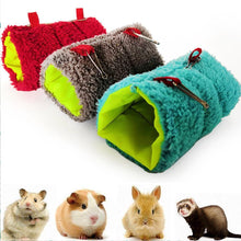 Load image into Gallery viewer, Small Pet Warm Tunnel Hammock Hanging Bed Ferret Rat Hamster Bird Squirrel Shed Cave Hut Hanging Cage Pet Birds Parrot Supplies - petsprive.com