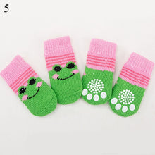 Load image into Gallery viewer, 4Pcs Warm Puppy Dog Shoes Soft Pet Knits Socks Cute Cartoon Anti Slip Skid Socks For Small Dogs Breathable - petsprive.com