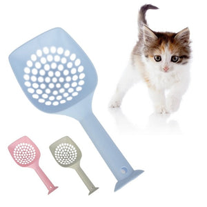 Cat Litter Scoop Metal and Plastic Waste Scooper Poop Pet Sand Shovel Cleaning Tools - petsprive.com