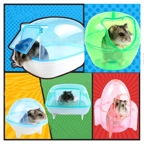 Hot 10 Style Hamste Cage Bathroom Sauna Bathtub Small Pet Hamster Accessories Can Effectively Prevent The Bath Sawdust Fly Out - petsprive.com