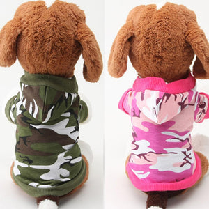 Funny Dog Jacket Camouflage Hoodie Winter Warm Sweatshirt T-shirt Cotton Adidog Blend Clothes Dog Clothes Hoodies - petsprive.com
