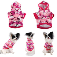 Load image into Gallery viewer, Funny Dog Jacket Camouflage Hoodie Winter Warm Sweatshirt T-shirt Cotton Adidog Blend Clothes Dog Clothes Hoodies - petsprive.com