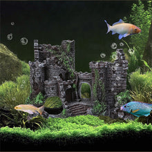 Load image into Gallery viewer, Resin Artificial Fish Tank Decorations Ancient Castle Landscaping For Aquarium Rock Cave Building Decoration Aquarium Accessorie - petsprive.com